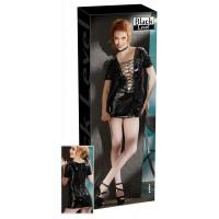 Платье виниловое Vinyl Dress with Lacing, чёрное