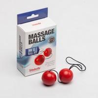 Шарики вагинальные, массажные красные (пластик)
