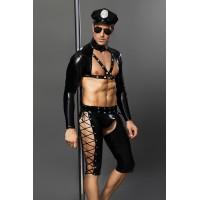 Костюм полицейского CANDY BOY JOSH, чёрный, OS