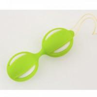 Вагинальные шарики Toyfa, зелёные, ПВХ, 3,5 см