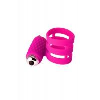 Виброкольцо DIBE ADMA, силикон, розовое