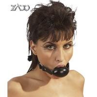 Кляп ZADO FETISH ,100% кожа, чёрный