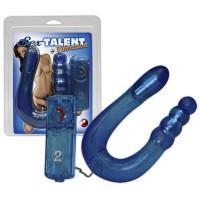 Вибратор анально-вагинальный Sex Talent, голубой