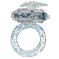 Виброкольцо для клитора на пенис Flutter-Ring Clear