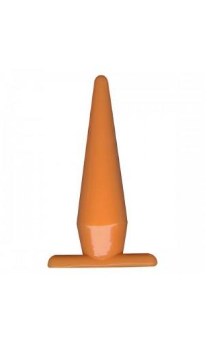 Анальная пробка FUNKY ORANGE, ярко-оранжевая